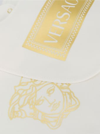 Young Versace Fendi Kids Printed Bib