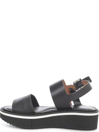 Clergerie High Platform Sandals W/belt On Ankle And Two Bands