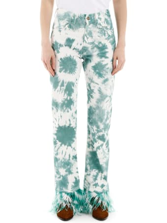 Alanui Tie-die Jeans With Feathers