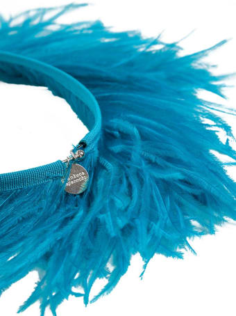 Gianluca Capannolo Blue Feather Necklace