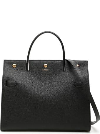 Burberry Medium Title Tote Bag
