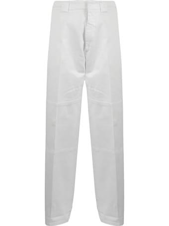 N.21 White Cotton-blend Trousers