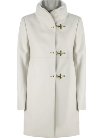 Fay White Virgin Wool Coat