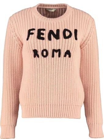Fendi Wool Crew-neck Pullover