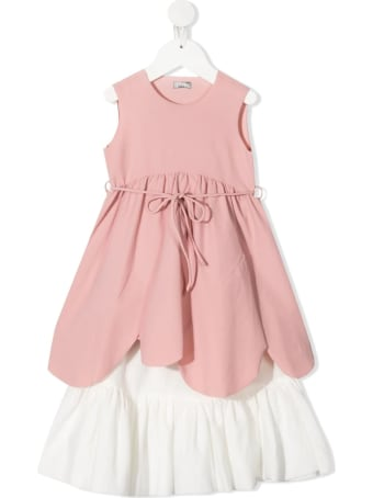 Il Gufo Tiered Drawstring Dress