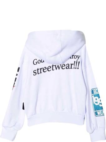 GCDS Mini White Sweatshirt