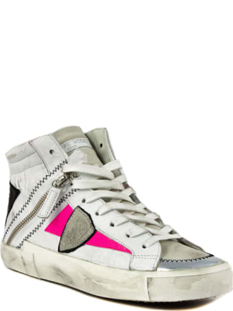 Philippe Model White Leather Bike X Sneakers