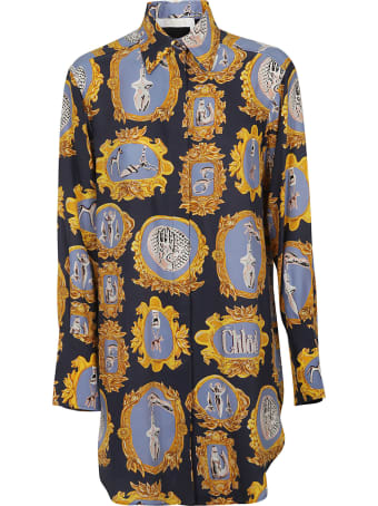 Chloé Printed Shirt Dress
