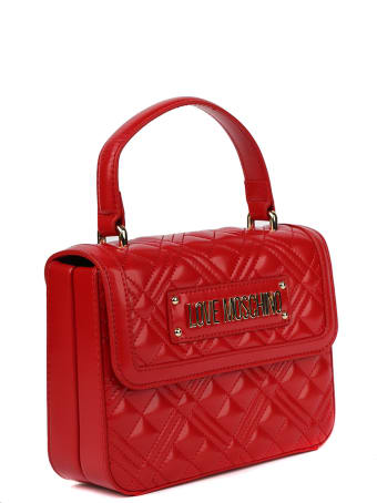 Love Moschino Love Moschino Red Faux Leather Bag