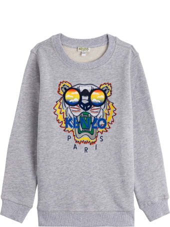 Kenzo Kids Sweatshirt With Tiger Embroidery And Logo