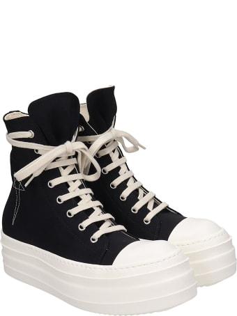 DRKSHDW Double Bumper  Sneakers In Black Canvas