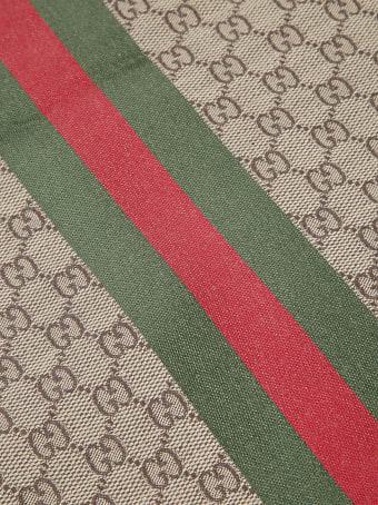 Gucci Logo Motif Fringed Scarf