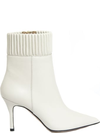 Roberto Festa Christa Ankle Boot In White Leather