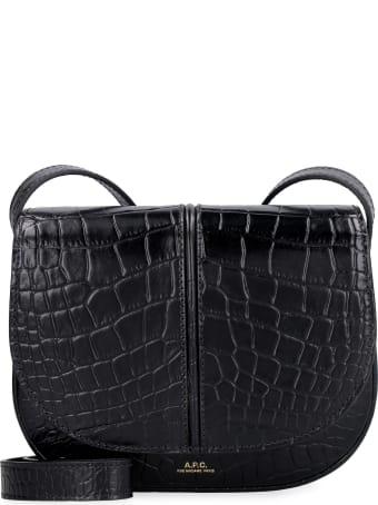 A.P.C. Betty Croco-print Leather Crossbody Bag