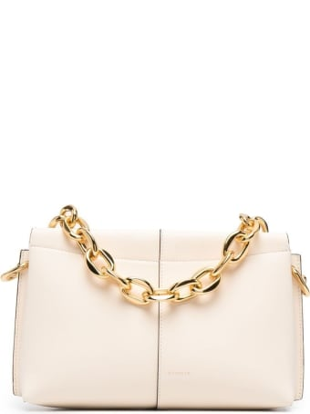 Wandler Carly Handbag In White Leather With Logo