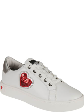Love Moschino Sequined Heart Sneakers