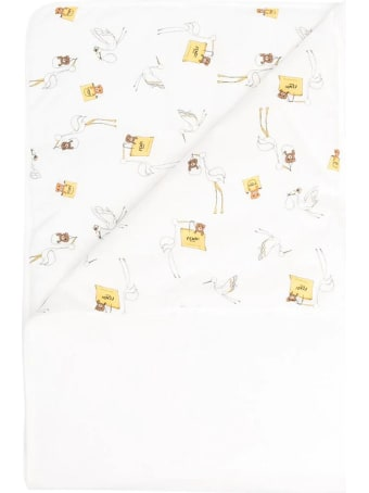 Fendi White Stretch-cotton Blanket