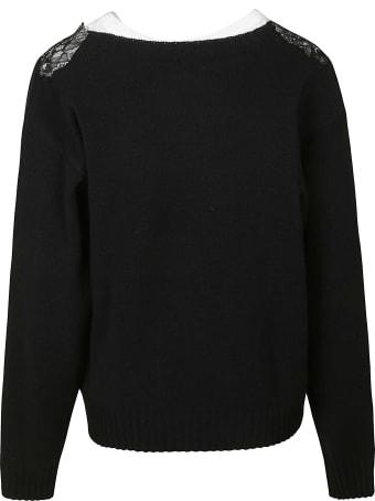 Philosophy di Lorenzo Serafini Floral Lace Applique Sweatshirt