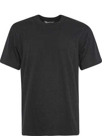 Y-3 Round Neck Back Print T-shirt