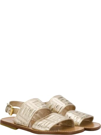 Fendi Gold Sandals Teen