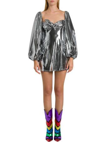 The Attico Silver Lamé Mini Dress