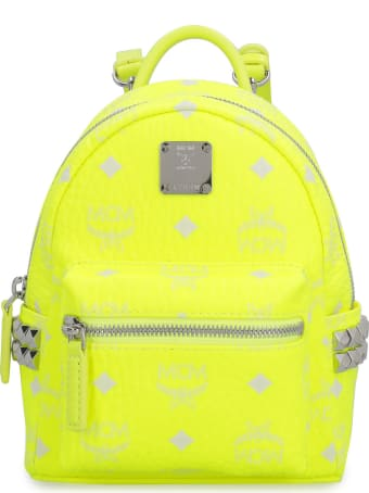 MCM Stark Neon Visetos Mini-backpack With Studs