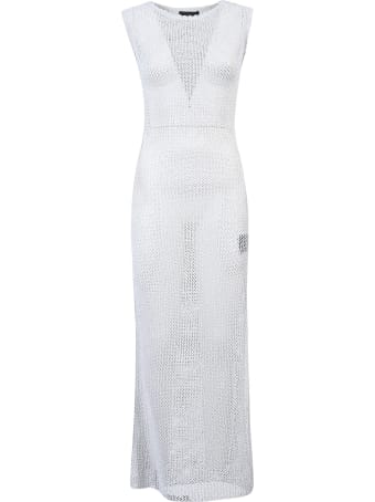 Alanui Sequined Net Long Knit Dress