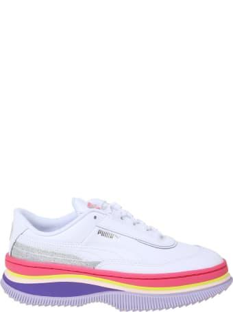 Puma Deva 90's Pop Sneakers In White Leather