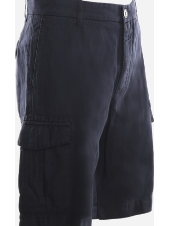 Eleventy Cargo Bermuda Shorts Made Of Cotton And Linen
