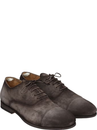 Officine Creative Revien 004 Lace Up Shoes In Brown Suede
