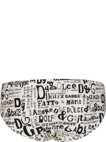 Dolce & Gabbana White Swimming Trunks