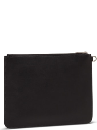 Givenchy Leather Clutch With Logo Print