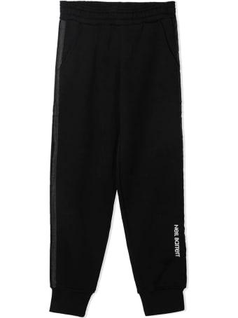 Neil Barrett Black Cotton Track Pants