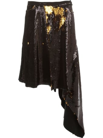 Marques'Almeida Skirt Sequin Tie Waist Asymmetric