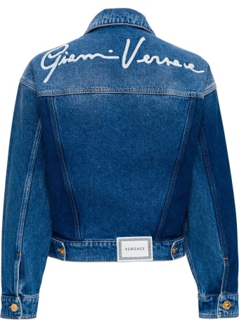 Versace Denim Jacket With Back Logo