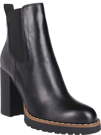 Hogan Black Leather Ankle Boots