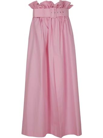 MSGM High-waist Belted Skirt