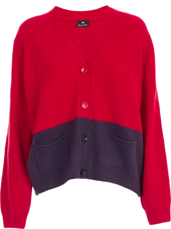 PS by Paul Smith Cardigan Bicolor W/pockets