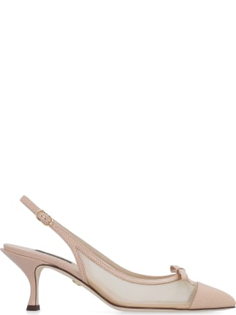 Dolce & Gabbana Mesh Pointy-toe Slingbacks