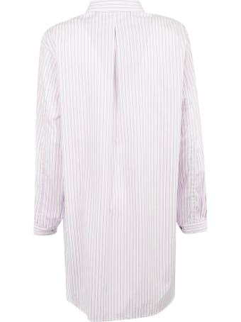 Y's Floral Print Striped Shirt