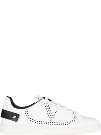 Valentino Leather Backnet Sneaker