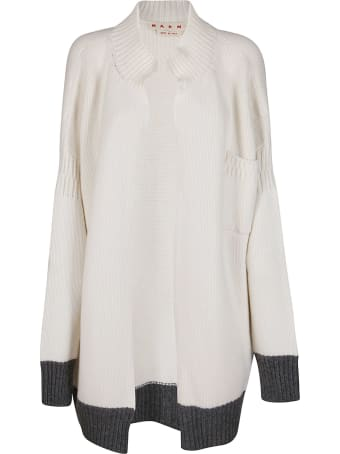 Marni White Virgin Wool Cardigan