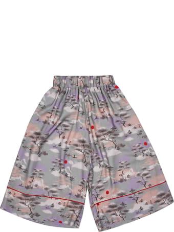 RaspberryPlum Printed Shorts