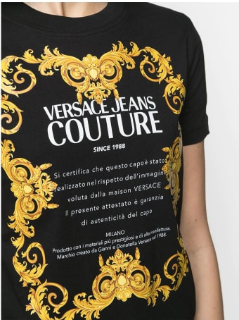 Versace Jeans Couture Versace T-shirt Nera Donna