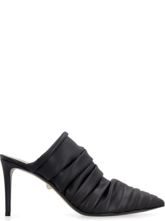 Alevì Naomi Draped Leather Mules