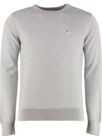 Maison Kitsuné Wool Crew-neck Pullover