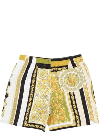 Young Versace 'barocco' Swimshorts