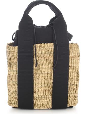 Muun Mini Straw Backpack W/cotton