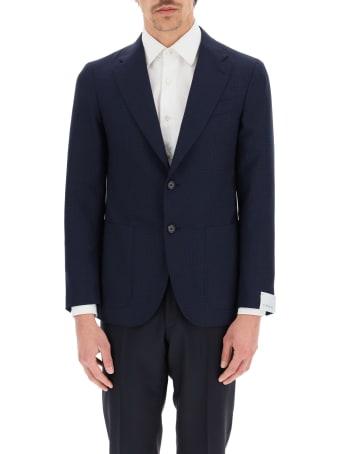 Caruso Tosca Check Wool Blazer