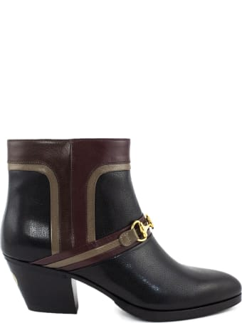 Gucci Black Leather Boots